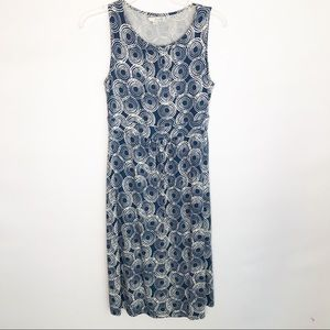 Boden Blue White Cotton Sleeveless Dress Size 6R